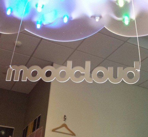 MoodCloud: a sound installation that allows you to hear the mood of topics on Twitter.